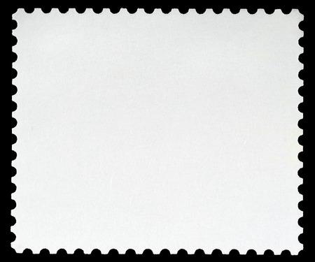 Francobollo in bianco con cornice, Bordo nero
