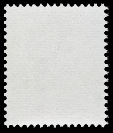 used stamp: Blank Postage Stamp Isolated on Black Background