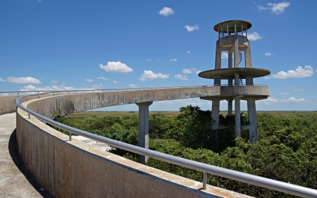 Observation Tower at Shark Valley in the Florida Evergaldes photo
