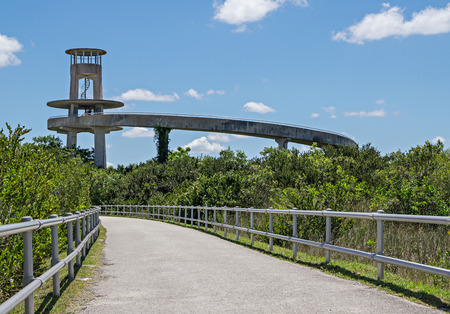 sawgrass: Observation Tower at Shark Valley in the Florida Evergaldes