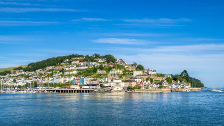 devon: Kingswear on the Dart Estuary Viewed from Dartmuoth Stock Photo