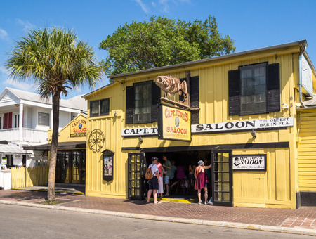 KEY WEST, FLORIDA USA - 8 MAY 2014 - The historic Captain Tonys Saloon bar in downtown Key West