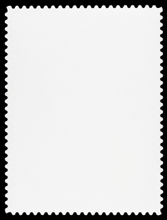 post stamp: Blank Postage Stamp Stock Photo