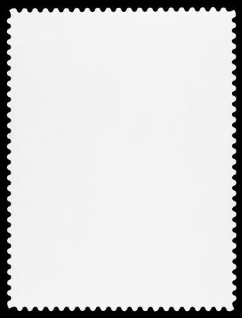 timbre postal: Sello en blanco Foto de archivo