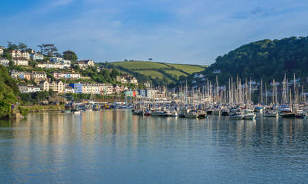 Yachts and Boats Moored on the Dart Estuary, Devon, United Kingdom