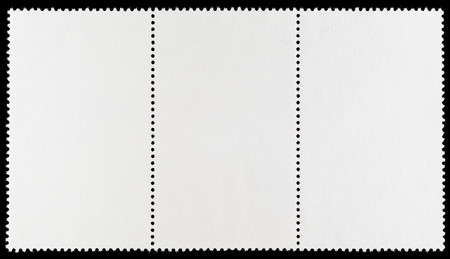 Blank Postage Stamp Strip of Three