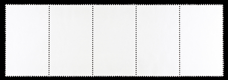 Strip of Blank Postage Stamps Stock Photo
