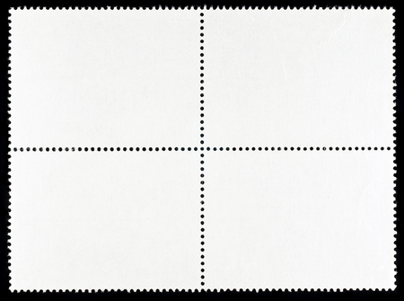 Block of Four Blank Postage Stamps