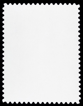 white paper: Blank Postage Stamp Isolated on Black