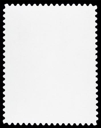 postal: Blank Postage Stamp Isolated on Black