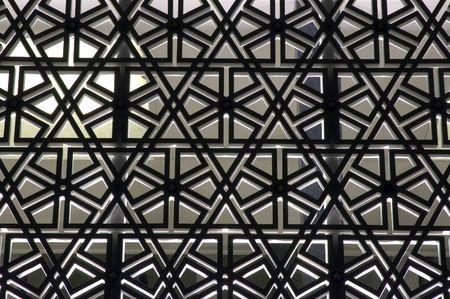 Interlocking texture on walls of Islamic mosque