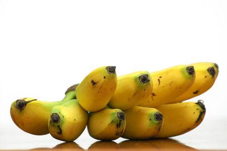 Banana bunch with reflection Stock Photo