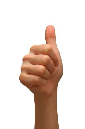 Thumbs up with white background