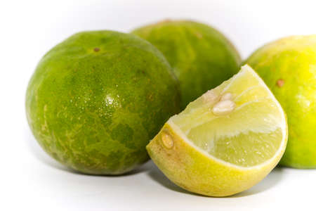 Limes on the white