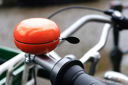 Orange bicycle bell Stock Photo - 10418275