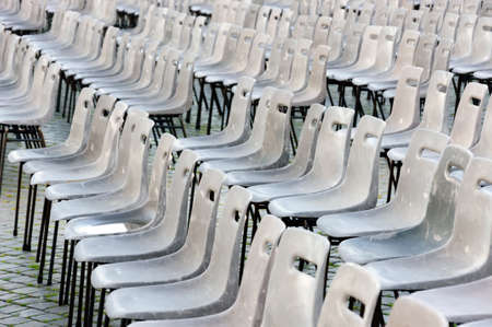 st  peter's square: Empty Chairs for Mass in St Peters Square in Vatican, Rome
