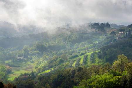 Umbria cloudy landscape, Perugia, Italy Reklamní fotografie