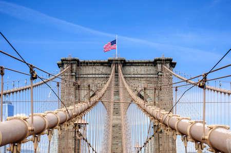 Brooklyn Bridge over East River, New York City, NY, USA