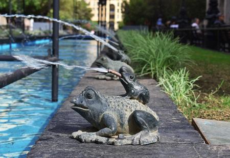 Frogs fountain Banco de Imagens