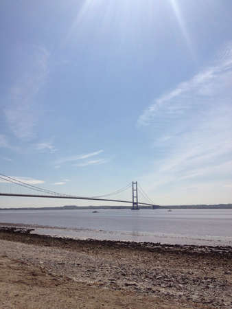 yorkshire and humber: The Humber bridge in East Riding of yorkshire Stock Photo