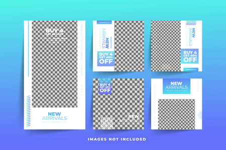 Fashion Social Media post template with gradient  Free Premium Vector Stock fotó - 154828423
