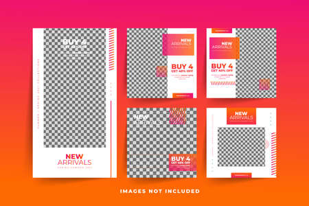 Fashion Social Media post template with gradient  Free Premium Vector