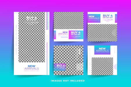 Fashion Social Media post template with gradient  Free Premium Vector Stock fotó - 154807973