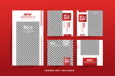 Fashion Social Media post template with gradient  Free Premium Vector Stock fotó - 154828431