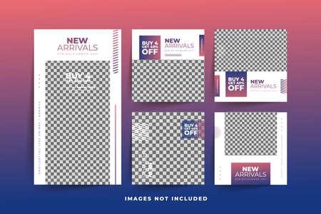 Fashion Social Media post template with gradient  Free Premium Vector Stock fotó - 154829415