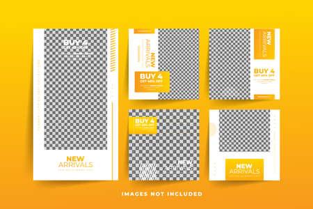 Fashion Social Media post template with gradient  Free Premium Vector Stock fotó - 154829425