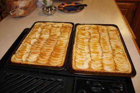 Apple tart on the table