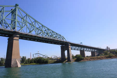 laurent: Jacques Cartier Bridge over the Saint Laurent river-Montreal