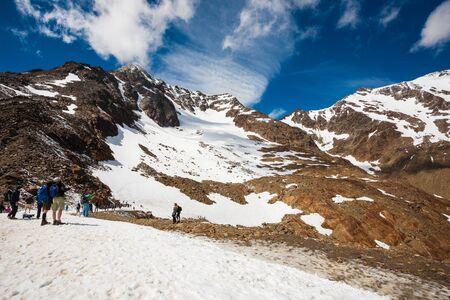 Ijs op de berg Stockfoto