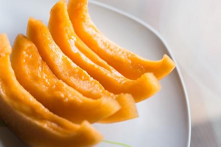 Melon Slices Stockfoto