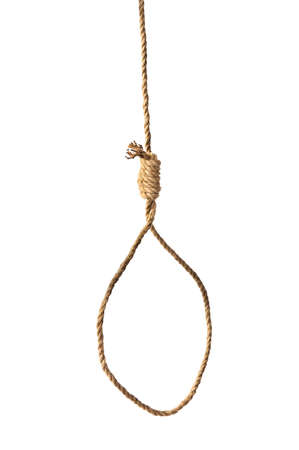 capital punishment: Suicide Noose isolated on white