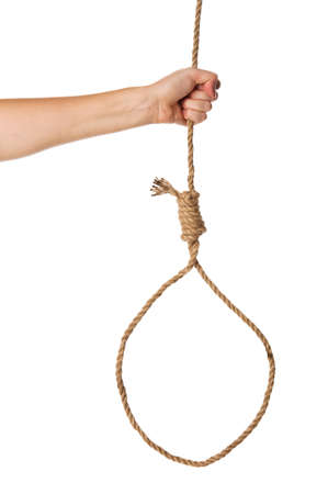 Noose in hand Isolated on white background Stock Photo - 15361422