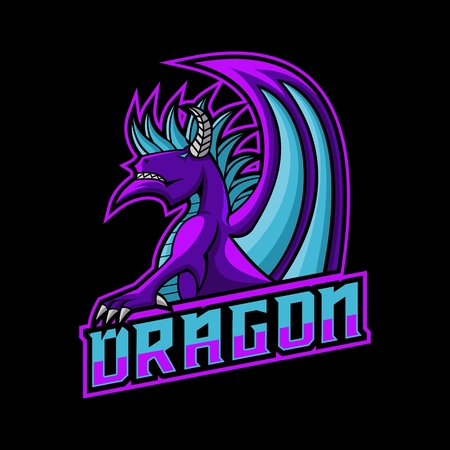 dragon gaming logo vector illustration Illusztráció