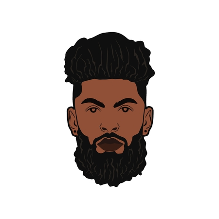 black beard man amazing design for your company or brand