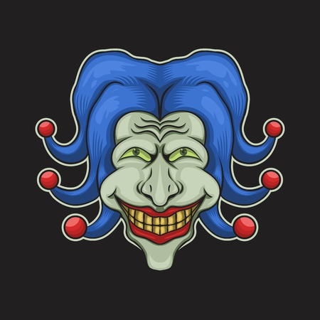 joker head vector illustration for your company or brand Illustration