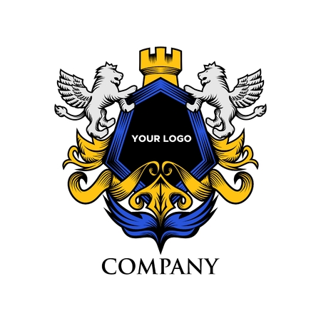 Luxury Shield Lion amazing design for your company or brand