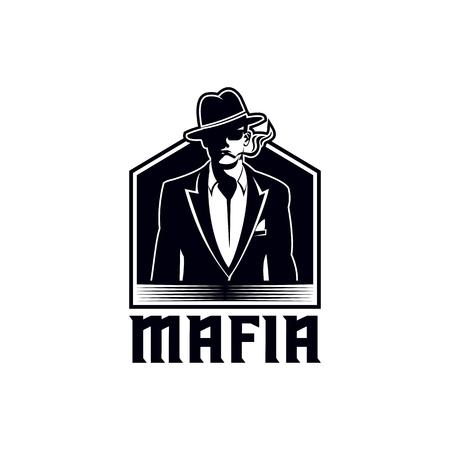 illustration vectorielle mafieuse pour votre entreprise ou votre marque