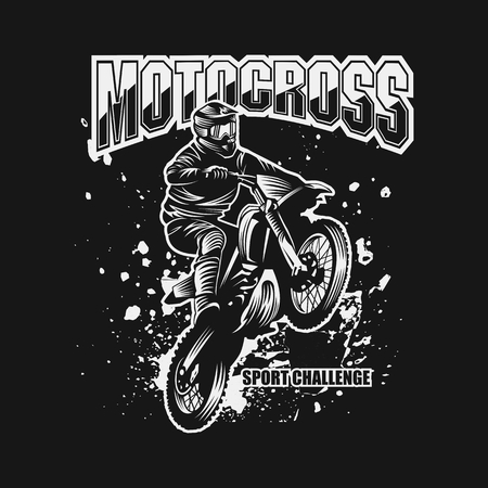motocross sport challenge vector illustration for your company or brand