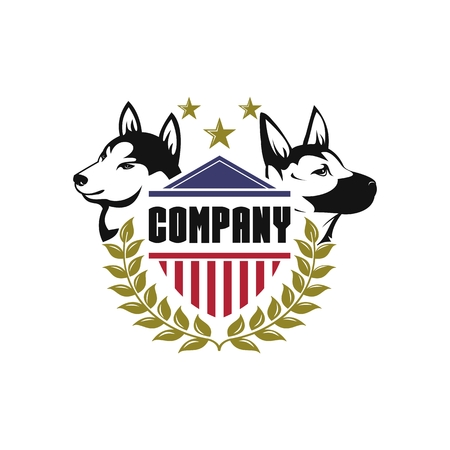 security dog vector for your company or brand