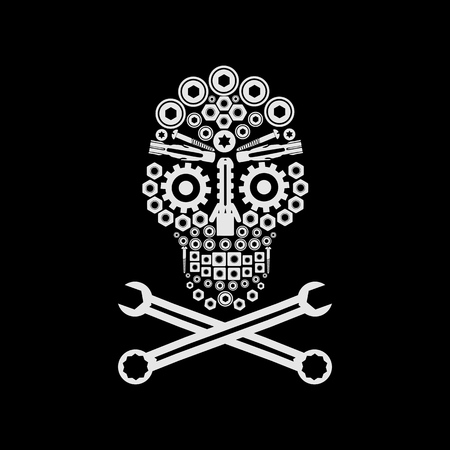 skull automotive amazing design for your company or brand Illustration