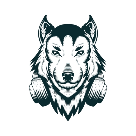 Wolf headphone vector illustration amazing design for your company or brand