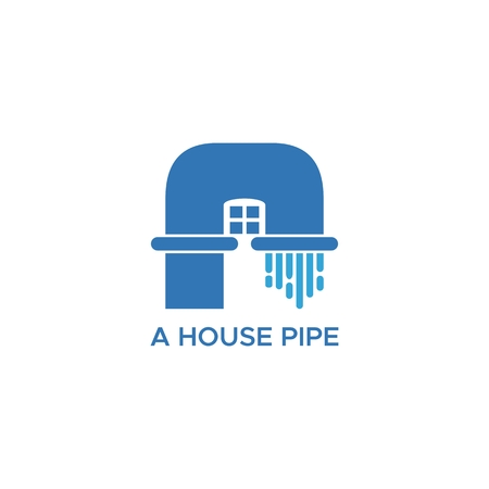 A Pipe House Logo Vector For Your Company Or Brand Royalty Free Cliparts Vectors And Stock Illustration Image 118504423