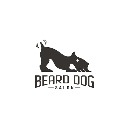 beard dog salon logo design for your company or brand