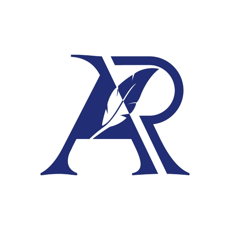 AR notary logo amazing design for your company or brand