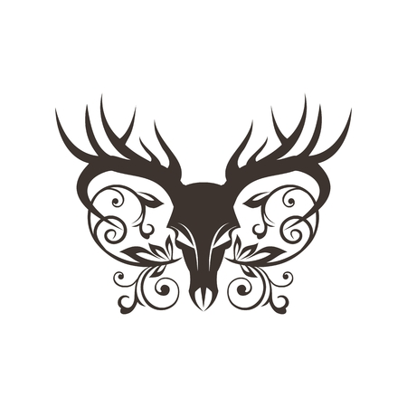 bone deer decoration vector illustration for your company or brand