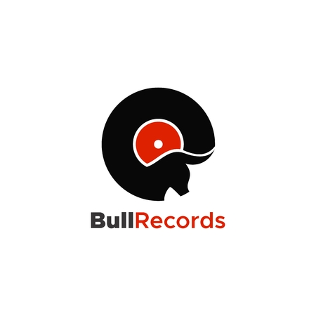 bull records logo unique amazing design for your company or brand Çizim